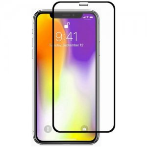 Hat - Prince 0.26mm 9H 2.5D Arc Full Screen Protector for 6.5 inch iPhone XS Max - BLACK