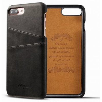 For iPhone 12 Pro Max-12 Pro Max Creative Leather Card Holder Back Phone Case Cover - BLACK