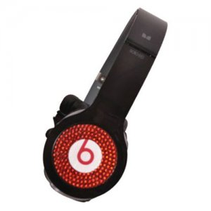 Beats By Dr Dre Solo Red Diamond Headphones Black