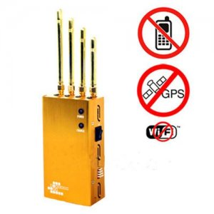 Powerful Golden Portable Cell phone & Wi-Fi & GPS Jammer