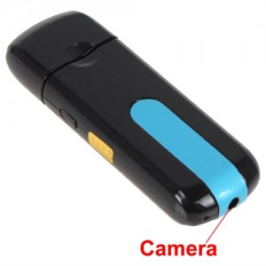 USB Flash Disk Mini DVR with HD 720 x 480 Hidden Camera Support Motion Detection
