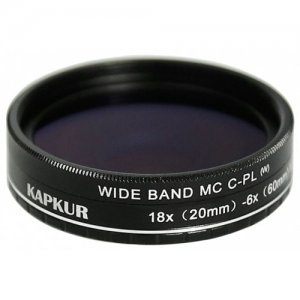 Kapkur HD Macro Lens for iPhone12 Pro Max with CPL 6X(20mm) -18X(60mm) Magnification - BLACK