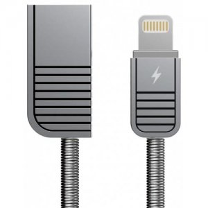 REMAX Fast Charging Metal Data Cable (RC 088i) - GRAY
