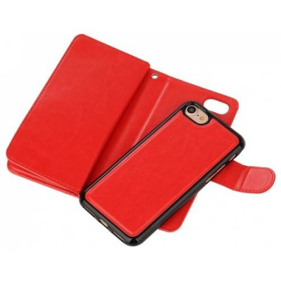 Case Premium Leather iphone Phone Wallet Case Cover for iPhone 12 - 8 - RED