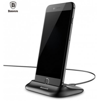 Baseus Little Volcano 8 Pin Charging Data Transfer Cradle - BLACK