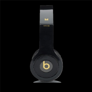 Beats By Dr Dre Solo HD On-Ear Black Gold Headphones
