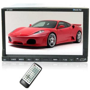 7 Inch TFT Color Screen Remote Control Car DVD Player with GPS