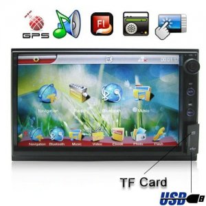 6.2 Inch 800 x 480 HD Digital Touch Screen Car MP5 With GPS and Flash