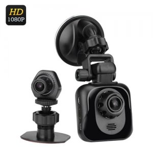 D35 Full HD Dual Car DVR - 1080P, Wide Angle Lenses, 2.4 inch TFT Display, GPS, G-Sensor, Motion Detection, Auto Recording