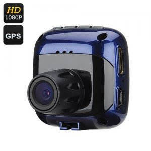 Mini 1080P Car DVR - 1/4 Inch CMOS Sensor, 120 Degree View, 1.5 Inch LCD Screen, Rearview Mirror, Built-in GPS, HDMI