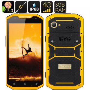 Mfox A10 Pro Gold Rugged Smartphone - 2.37g Au750 Gold, 6 Inch 1080P Screen, Android 9.1, 4G, Altimeter