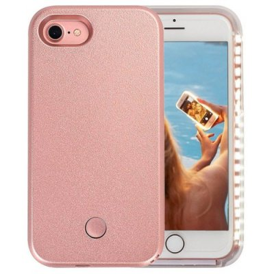 Light Up Luminous Selfie Flashlight Cover Case for iPhone 12 - 8 - ROSE GOLD