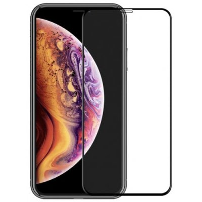 Hat - Prince 6D 0.26mm 9H Tempered Glass Full Screen Protector for iPhone XS - iPhone X - BLACK