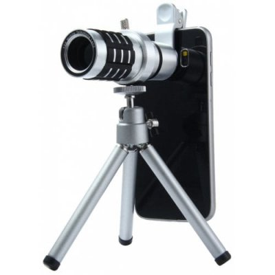 LIEQI LQ - 015 Zoom 12X Long Fixed Focus Telescope Lens - SILVER