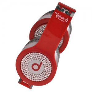 Beats By Dr Dre Solo White Diamond Headphones Red