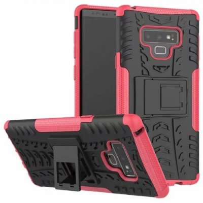 Protective Phone Case with Holder for Samsung Galaxy Note 9 - ROSE RED