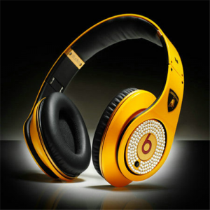 Beats By Dr Dre Diamond Color Yellow Studio High Performance Lamborghini Over-Ear Headphones