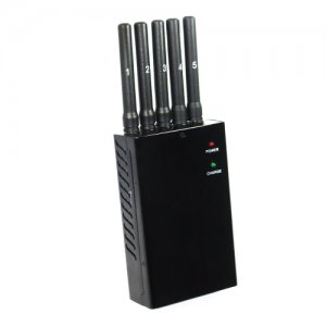 Portable 5 Antenna 3G Phone GPS and Bluetooth Jammer