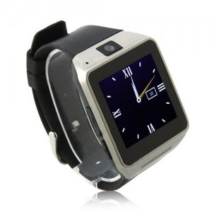 GV08 Watch Phone 1.54 Inch Screen Quad Band Bluetooth BT Dailer Camera - Black