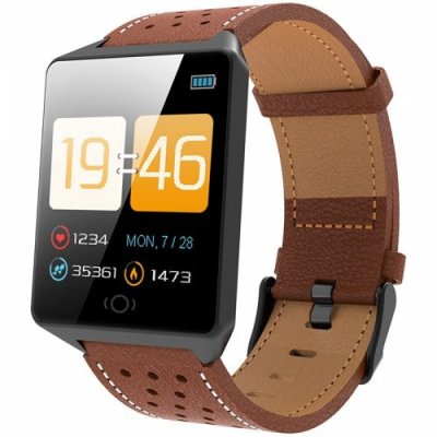 CK19 Smart Bracelet 1.3 inch Screen Sports Smartwatch - BROWN