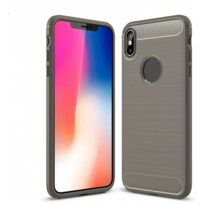 Anti-Fall Carbon Fibre Cell Phonecase for IPhone XS - GRAY