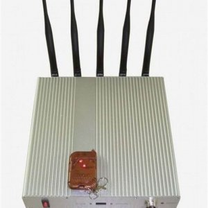 High Power 3G Cell phone signal jammer with Remote control