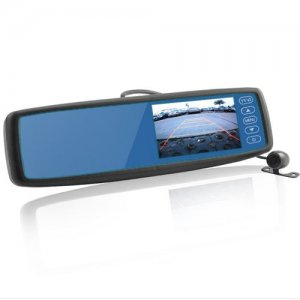 Car Rearview Mirror - Built-in 4.3 Inch Monitor + Camera