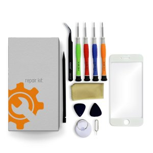 iPhone 7 Glass Lens Screen Repair Kit + Tools + Repair Guide - White