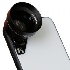 KAPKUR Mobile Phone Lens 2.0X Telephoto Lens Portrait Lens for iPhoneX - BLACK