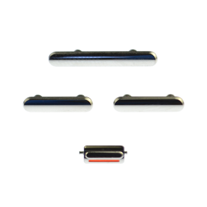 iPhone X Rear Case Button Set - Silver