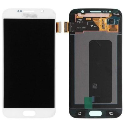 LCD Cellphone Screen Digitizer Assembly Replacement for Samsung Galaxy S6 - WHITE