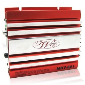 Red Small Size Car amplifier 2260