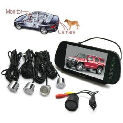 7 Inch Rearview LCD Monitor With Camera And Radar Parking System
