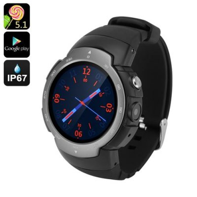 "Android Phone Watch ""Z9"" - GSM + 3G, 1.33 Inch Screen, Android 11.0, Google Play, IP67, 5MP Camera, Heart Rate Monitor (Grey)"