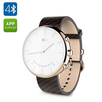 Elephone W2 Smart Watch – Bluetooth 4.0, Free Android App, 30ATM Water Resistant, Sports, Sleep + Sedentary Monitors (Golden)