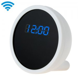 Full HD 1280 x 720 Alarm Clock WIFI Camera with Real Time View Function
