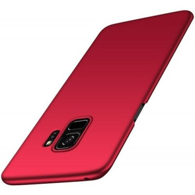 for Samsung Galaxy S9 Case Ultra-thin Back Cover Solid Colored Hard PC - RED
