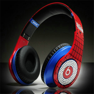 Beats By Dr Dre Studio Over-Ear Spider-Man with Diamond Headphones