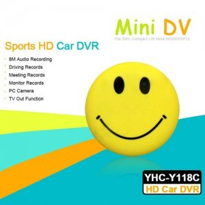 Sports HD Car DVR with TV-OUT Function and PC Camera