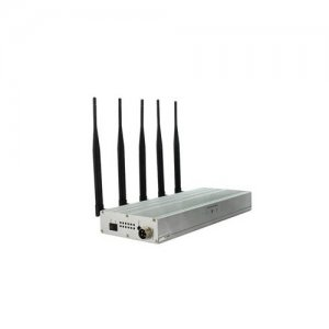 5 Antennas Desktop Mobile Phone UHF Audio Signal Jammer