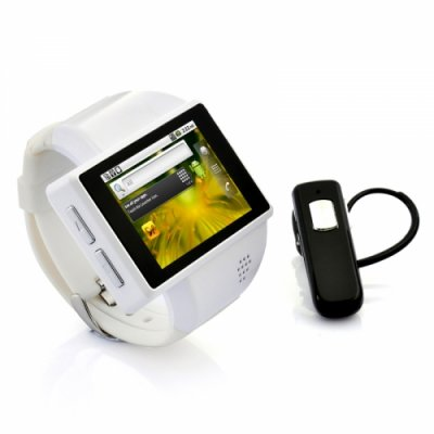 Android Phone Wrist Watch Quad Band 2 Inch Capacitive Screen 2MP Camera