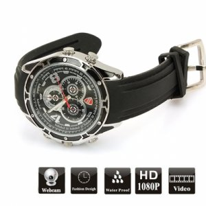 Waterproof 32GB 1080P High Definition IR Spy Night Vision Camera Watch