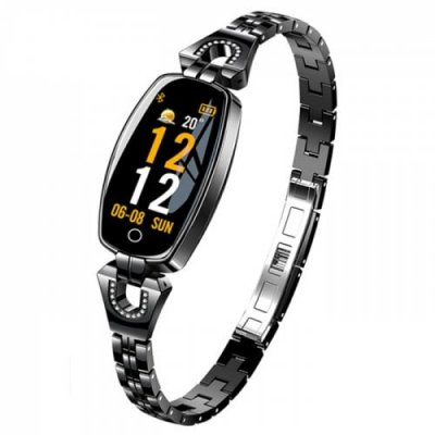 LYMOC H8 Women Fashion Smartwatch Metal Watch Smart Bracelet - BLACK