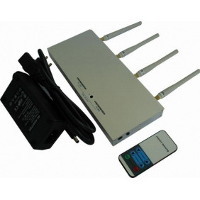 CellPhone Signal Jammer with Strength Remote Control - 8 Watt Output Power