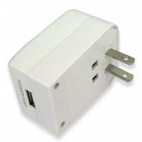 Universal Travel Adapter Voice Detecting Auto Callback GSM Spy Audio Bug