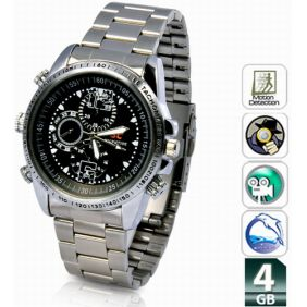 4GB Spy Camera Watch Motion Detection Waterproof 30FPS AVI Video
