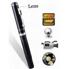 HD 1920 x 1080 Spy Camera Pen Support Video, Audio, Webcam - 4GB