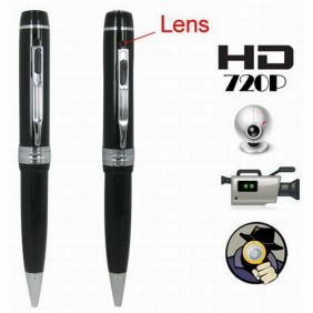 1280 x 720P HD Spy Camera Pen Video, Audio, Webcam